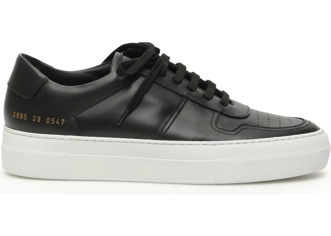 Common Projects Bball Low Super Sole Sneakers BLACK WHITE