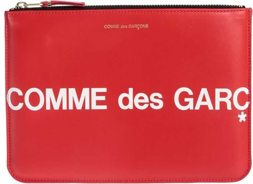 Comme des Garçons Huge Logo Purse In Red SA5100HL RED Red imagine b-mall.ro