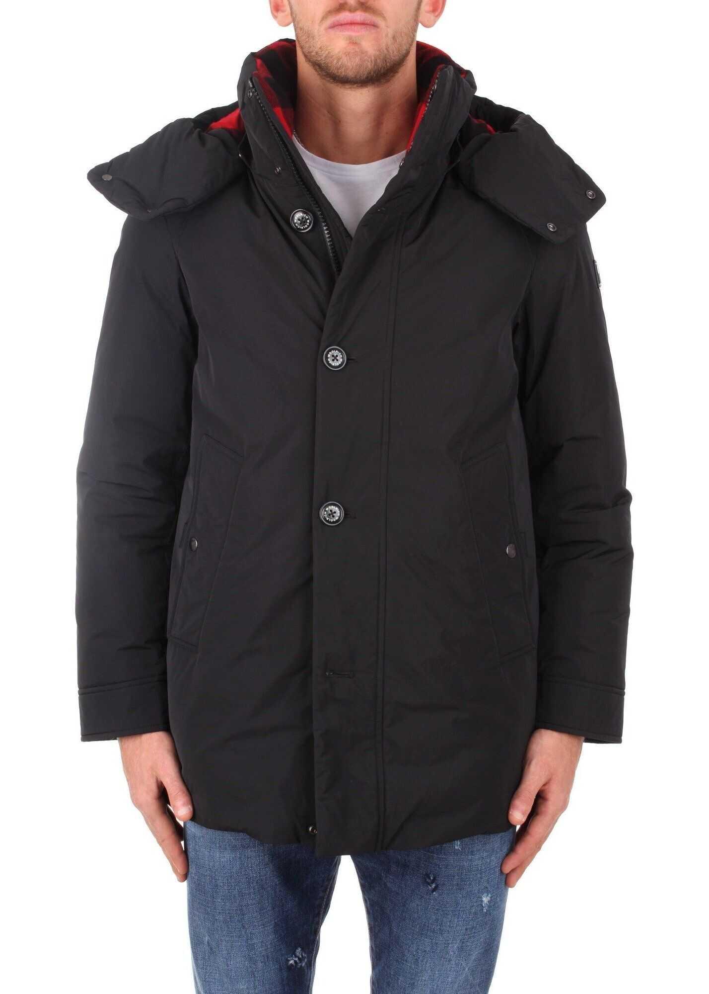 Woolrich Polyester Outerwear Jacket BLACK