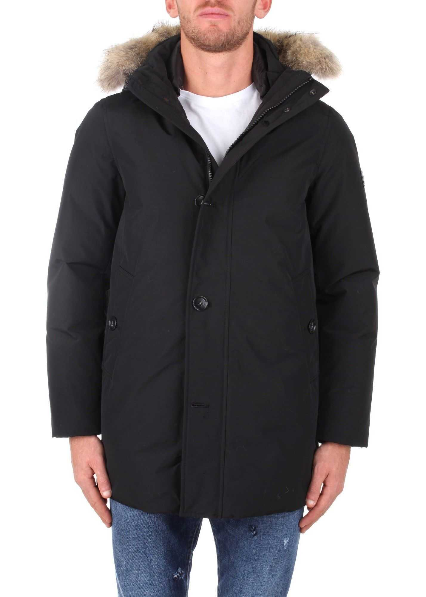 Woolrich Cotton Outerwear Jacket BLACK