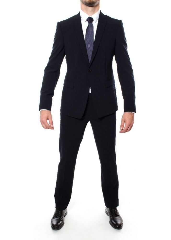 Emporio Armani Wool Suit BLUE