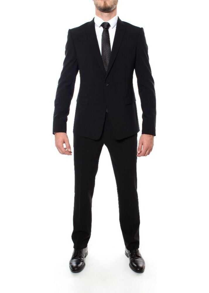 Emporio Armani Wool Suit BLACK