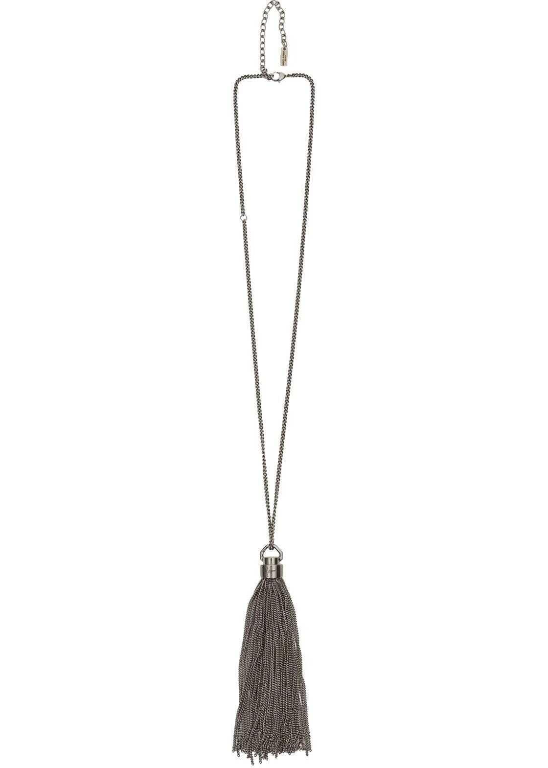 Saint Laurent Metal Necklace SILVER