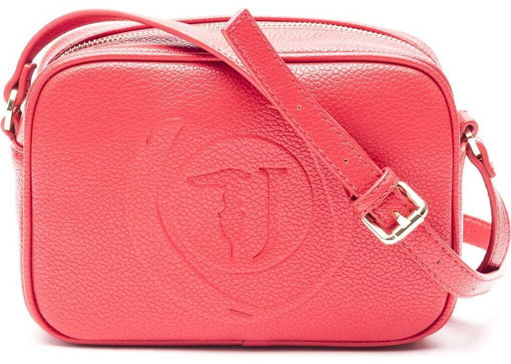 Trussardi Polyester Shoulder Bag RED