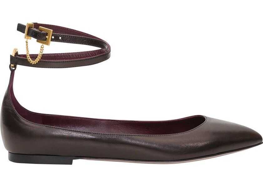 Valentino Garavani Leather Flats BLACK
