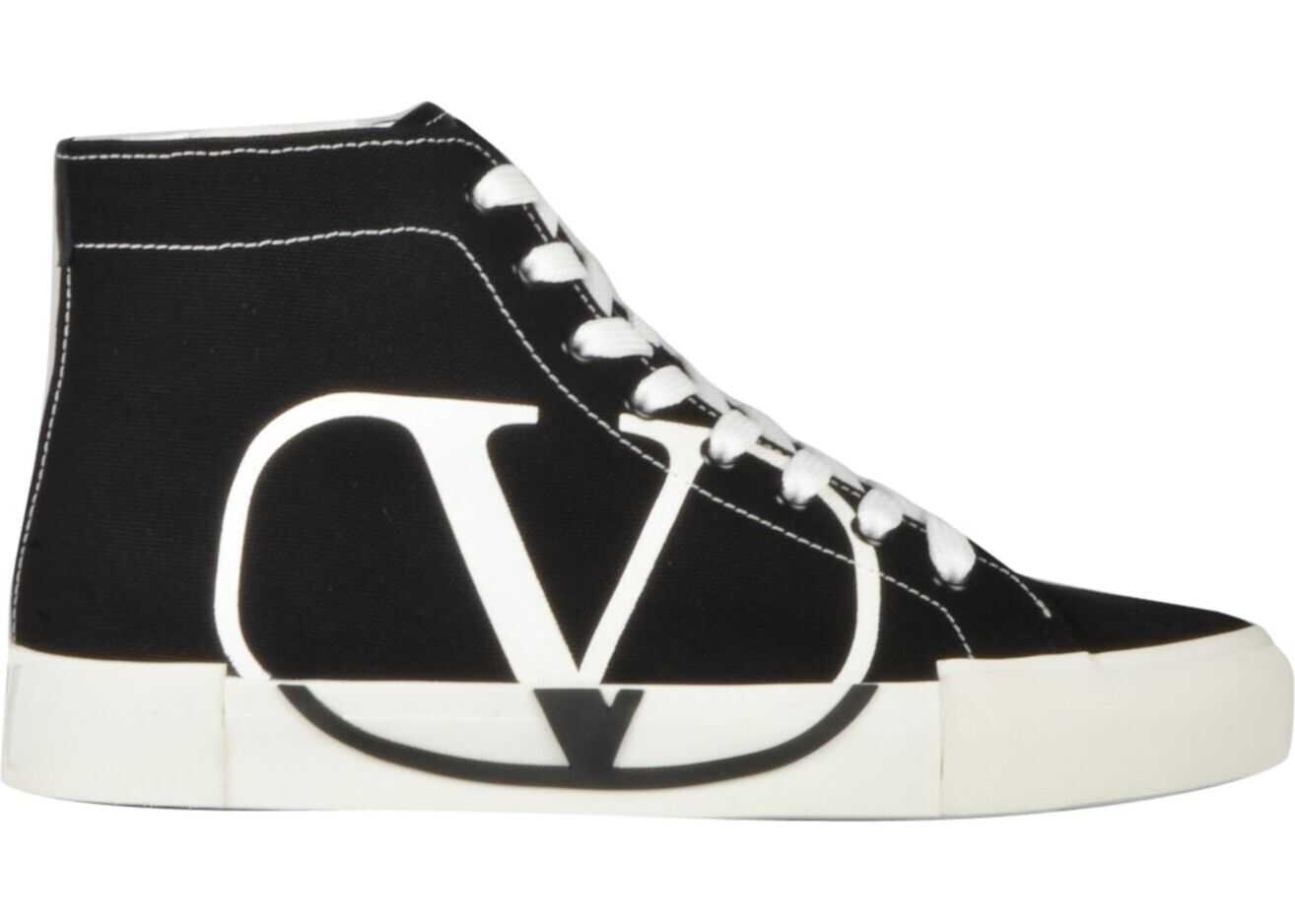 Valentino Garavani Canvas Hi Top Sneakers BLACK
