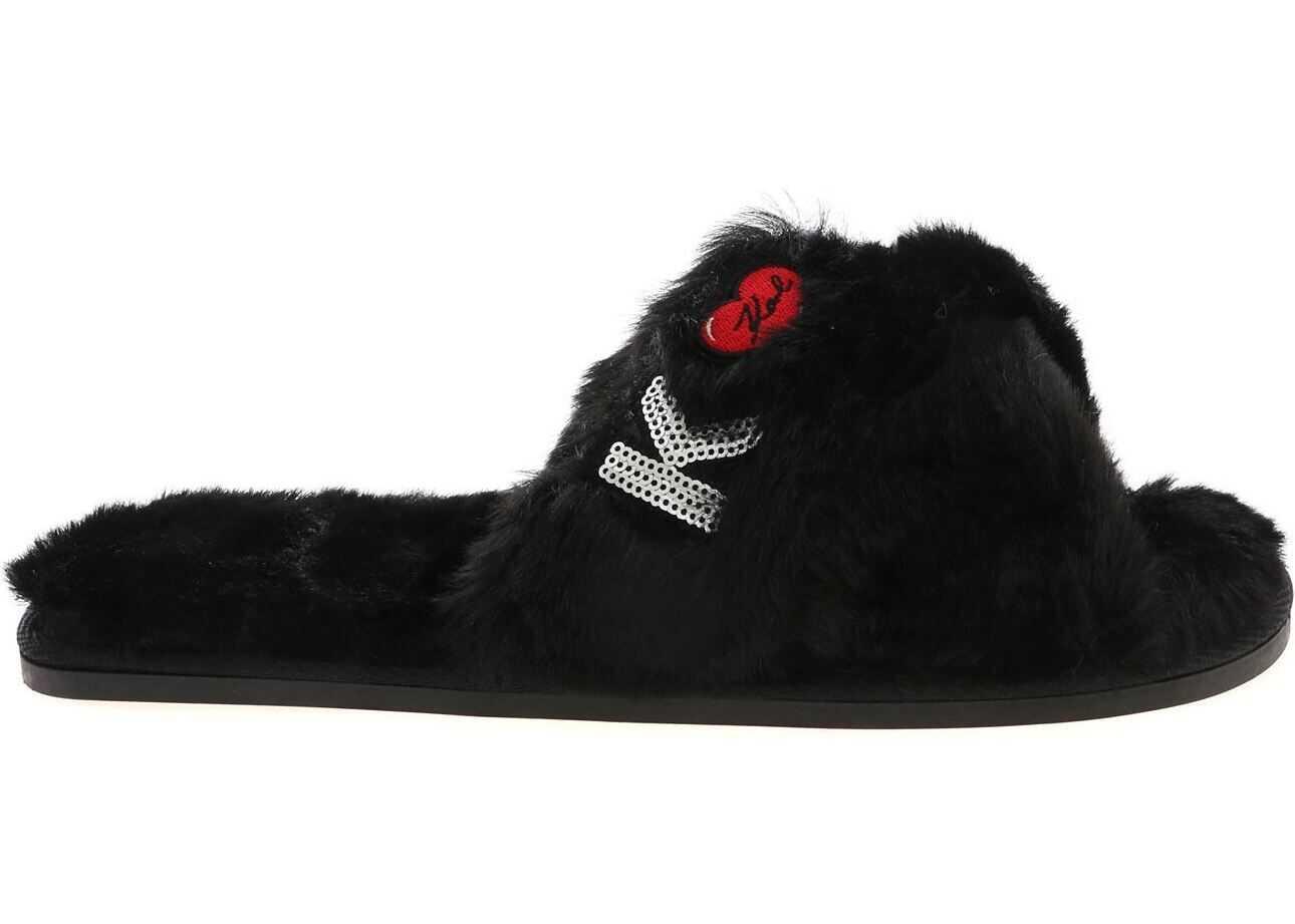 Karl Lagerfeld Slippers Salotto Ii Karl Kross Strap In Black Black