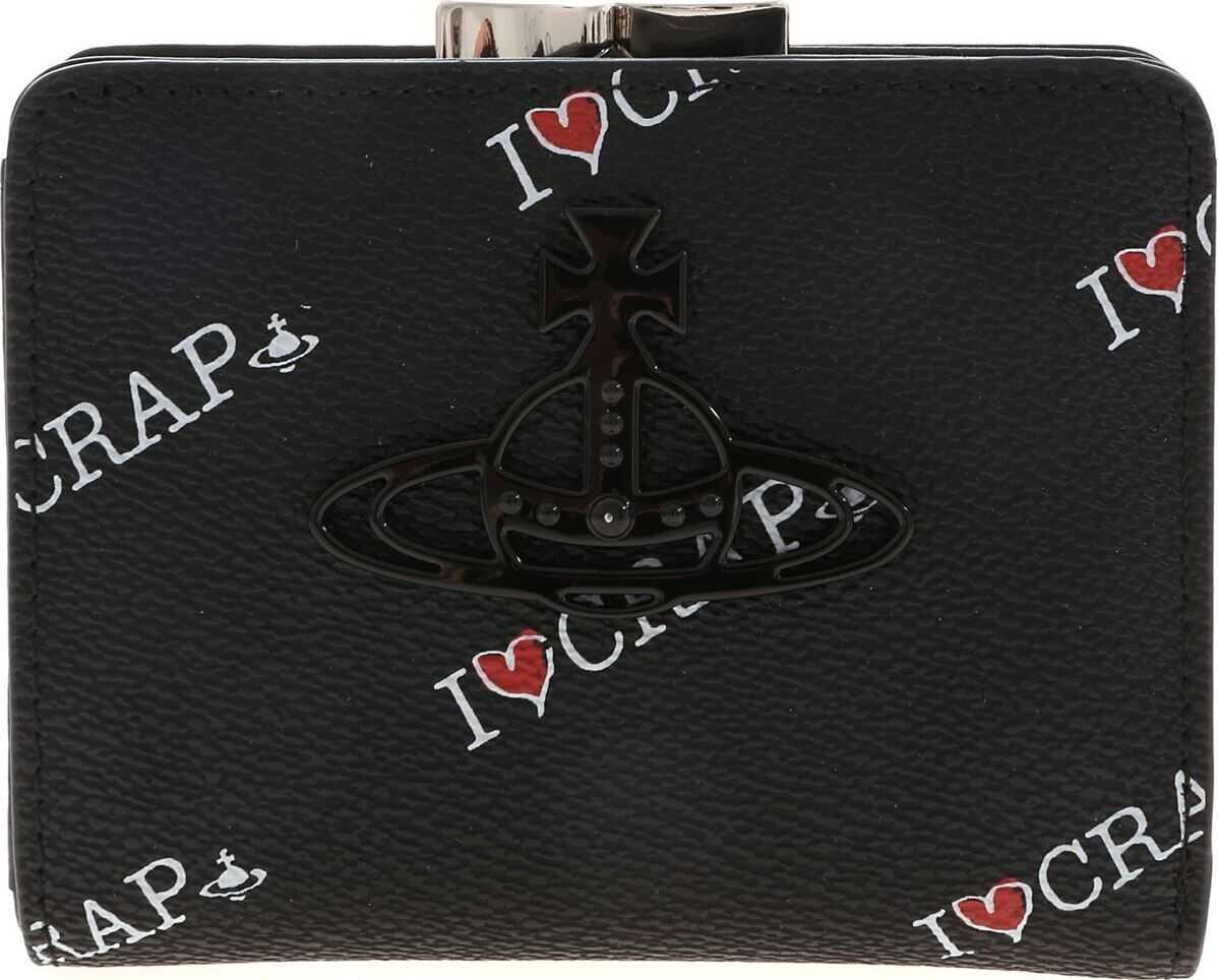 Vivienne Westwood Small Annie Wallet In Black Black