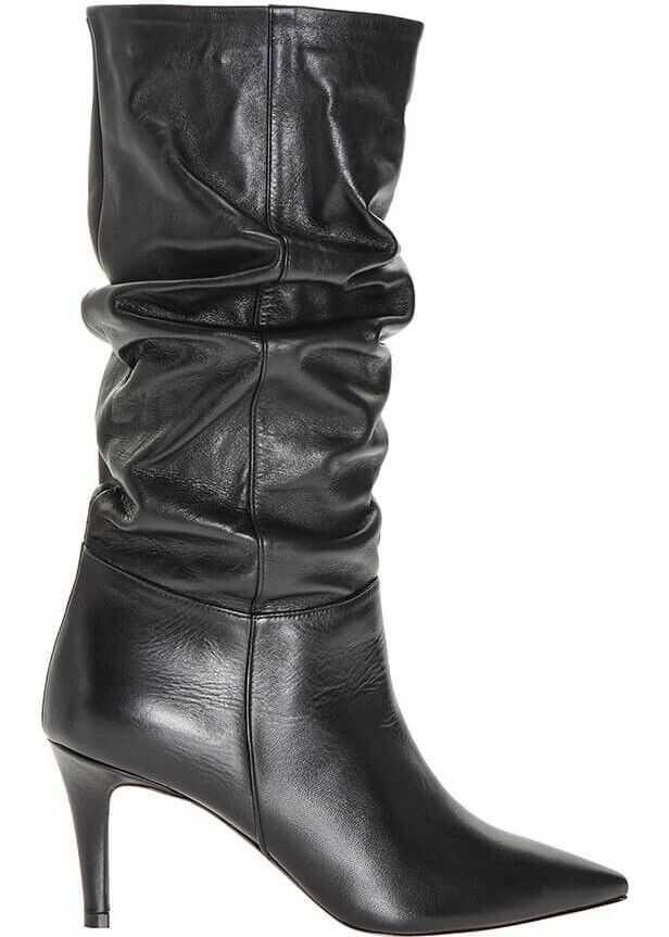 Pinko Leather Boots BLACK