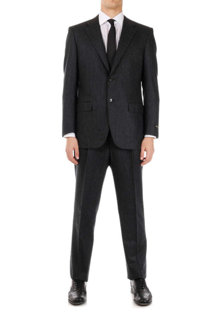 Super 100's Awning Striped MASTER 2 Button Suit thumbnail