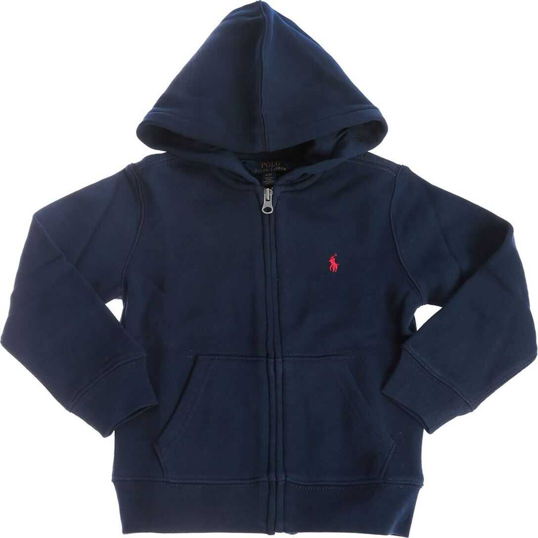 Logo Embroidered Hoodie In Blue