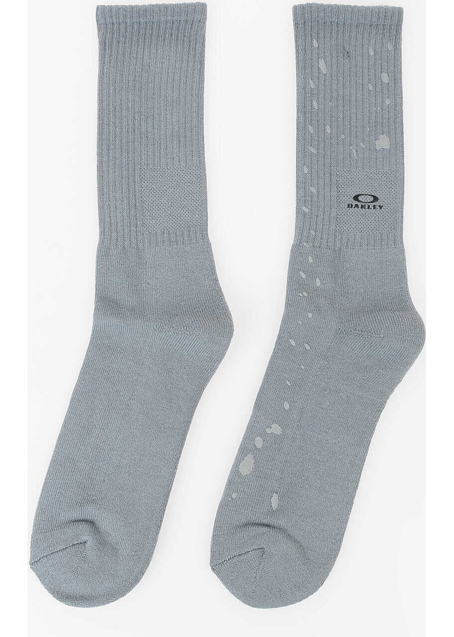 Oakley Splatter Cotton Blend Socks GRAY