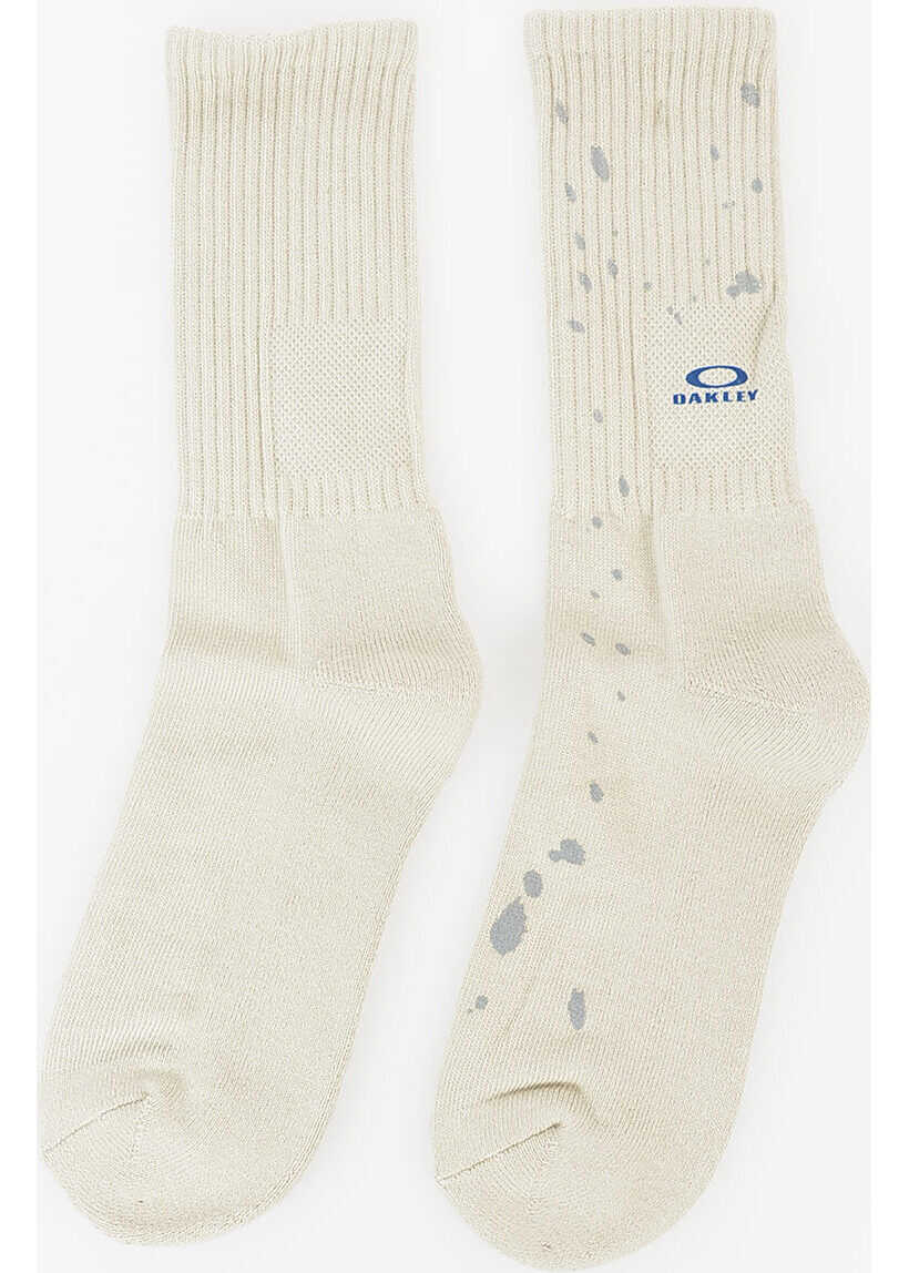 Oakley Splatter Cotton Blend Socks BEIGE