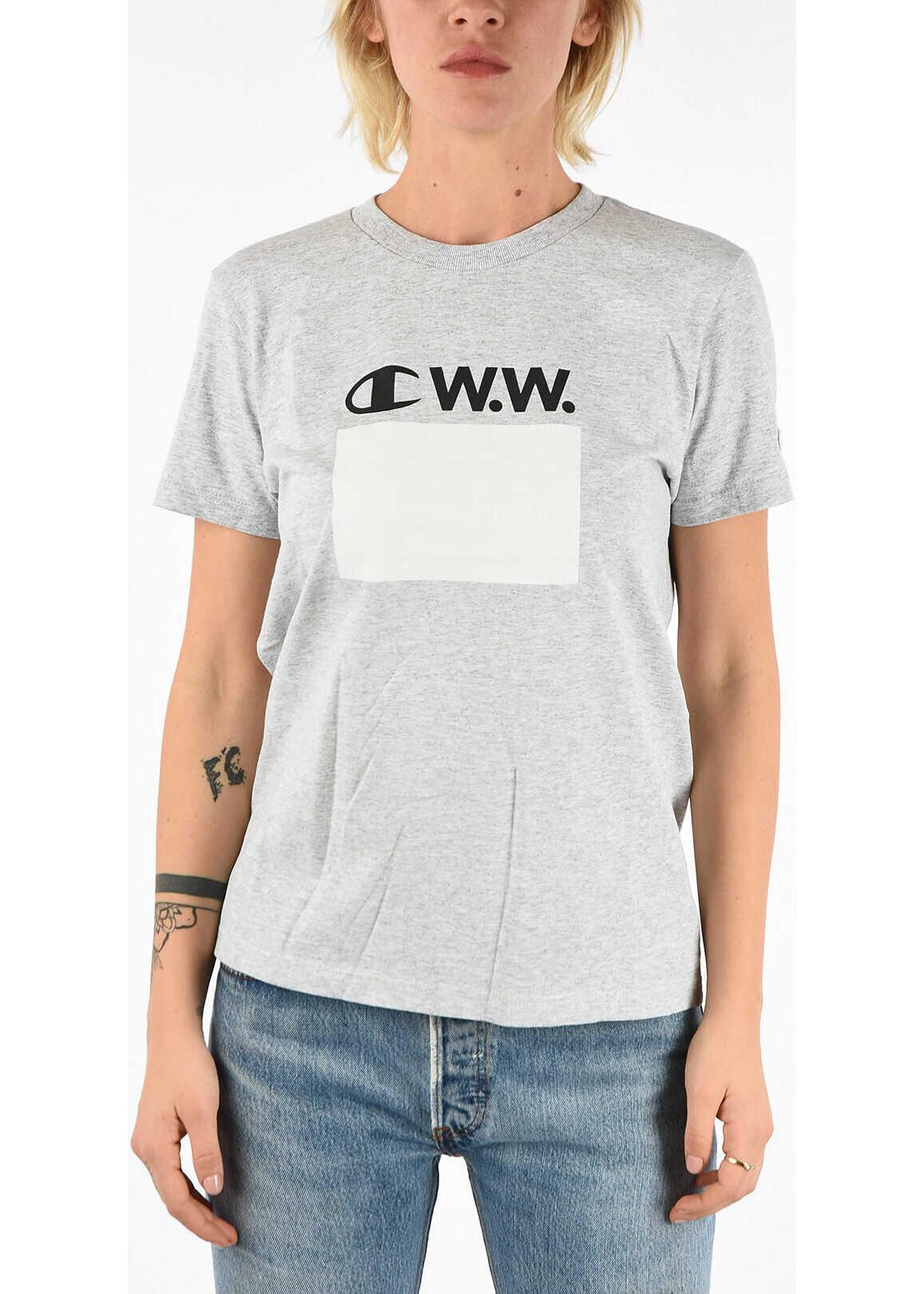 Champion WOOD WOOD Printed T-shirt GRAY