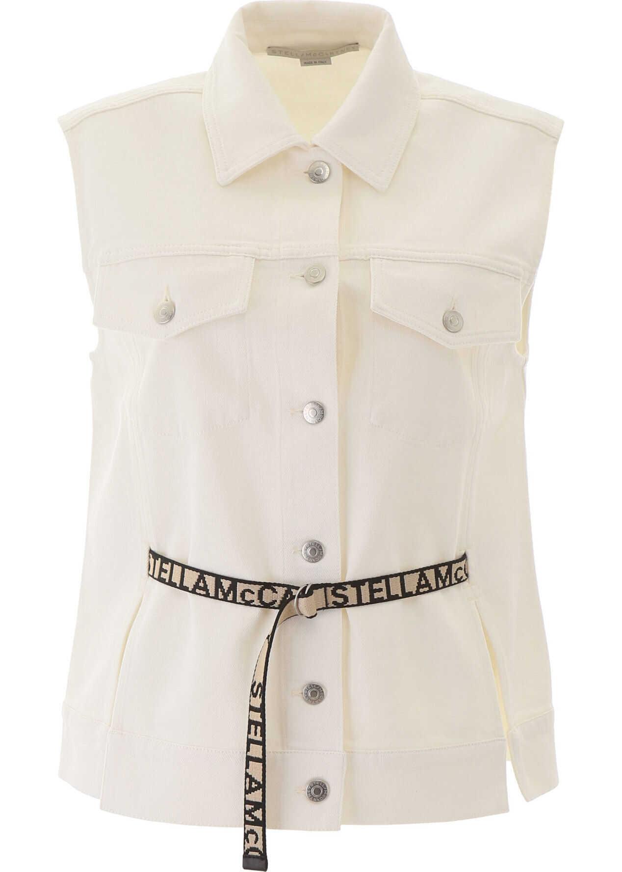 adidas by Stella McCartney Belted Vest ORGANIC WHITE