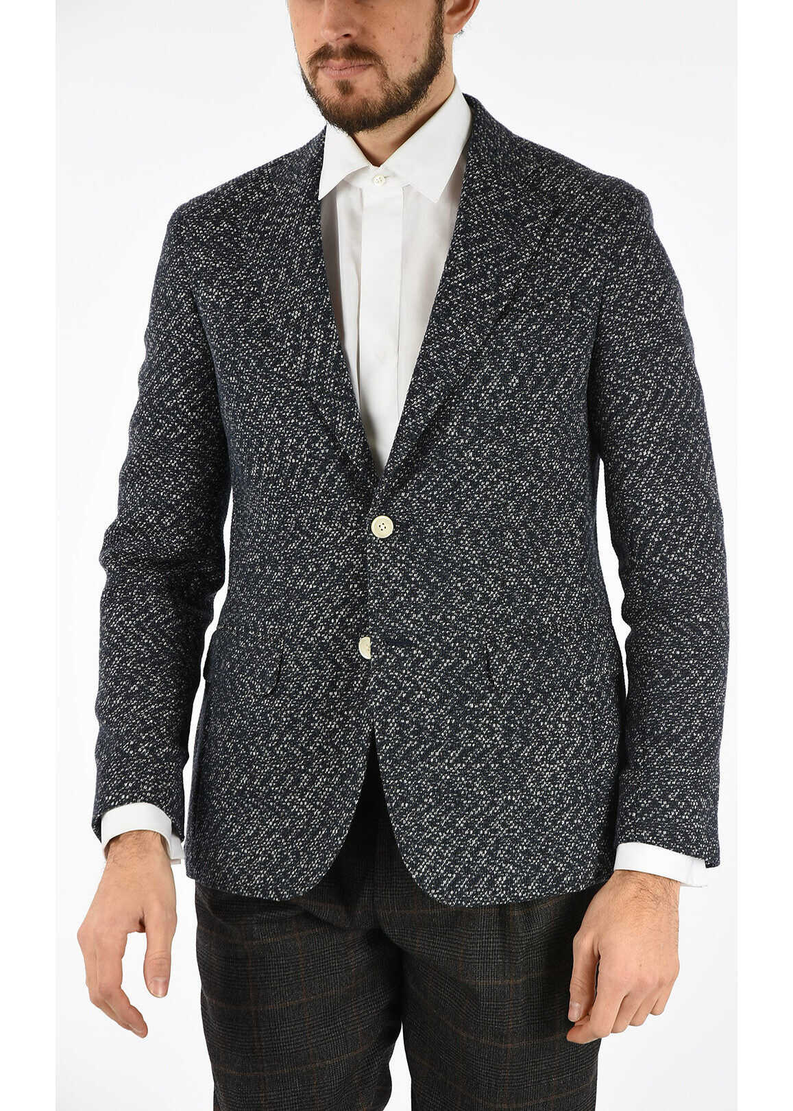 Hopsack side vents 2-button blazer thumbnail
