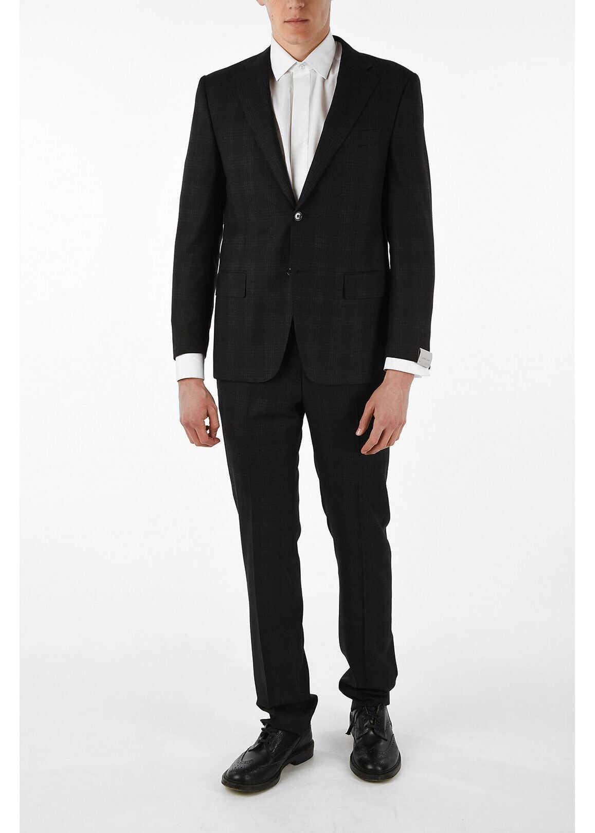 MANTUA notch lapel plaid 2-button suit thumbnail