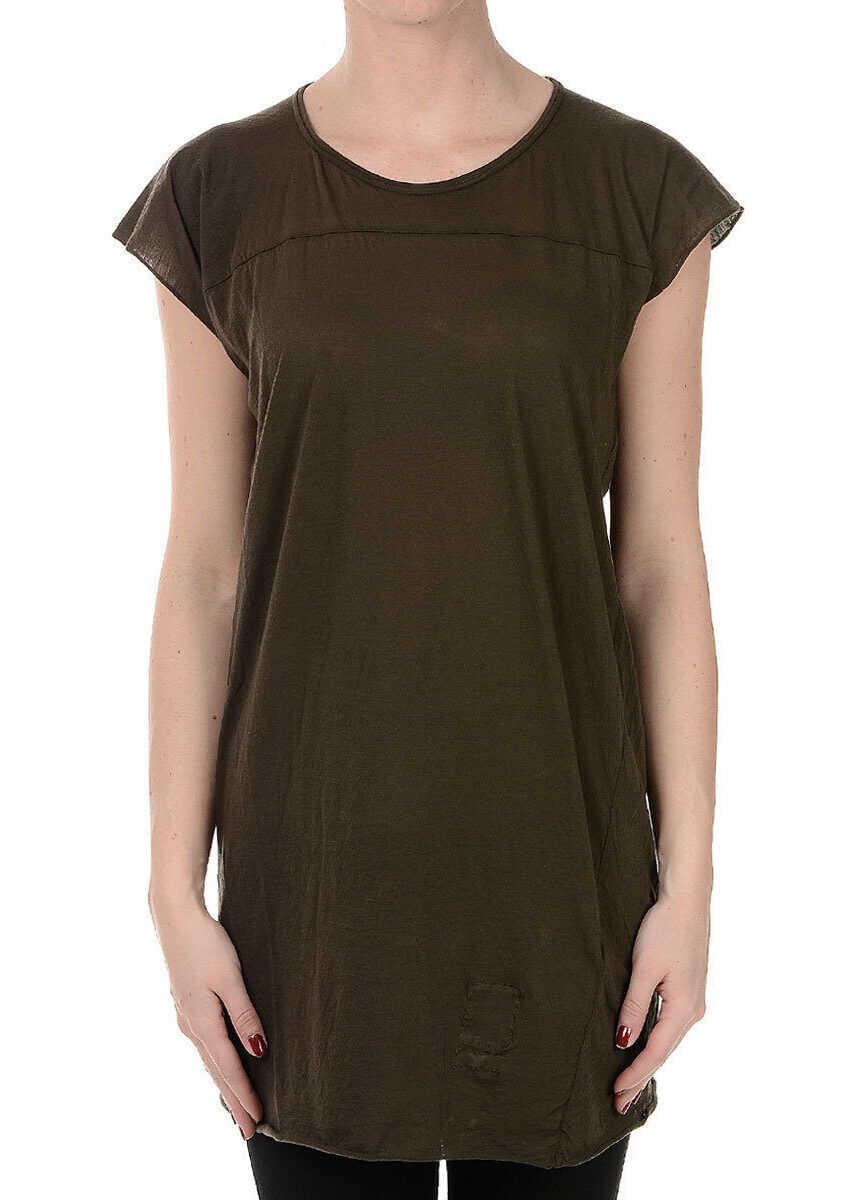 Rick Owens DRKSHDW Cotton T-Shirt BROWN