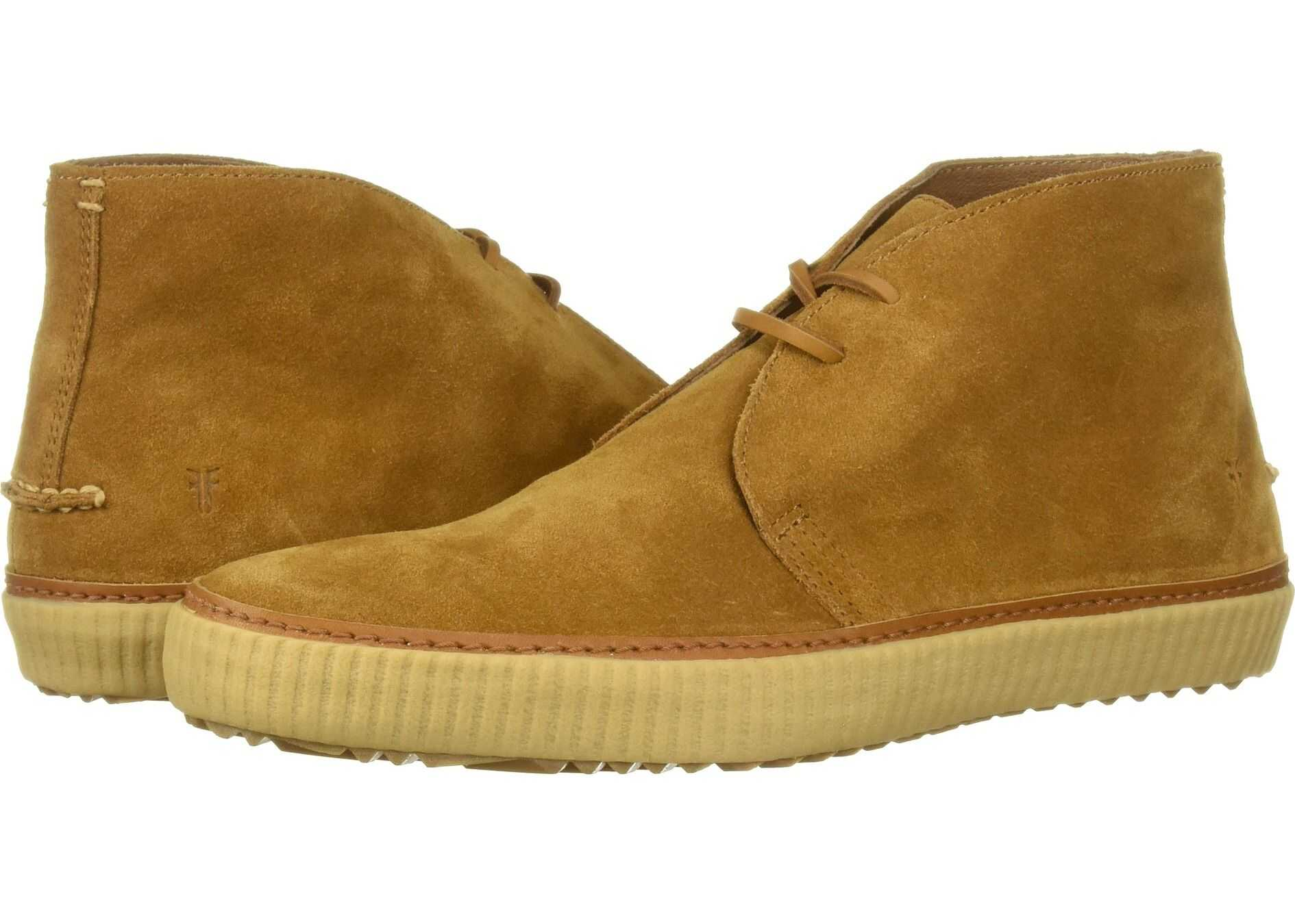 Frye Emory Chukka Wheat Washed Waxed Suede