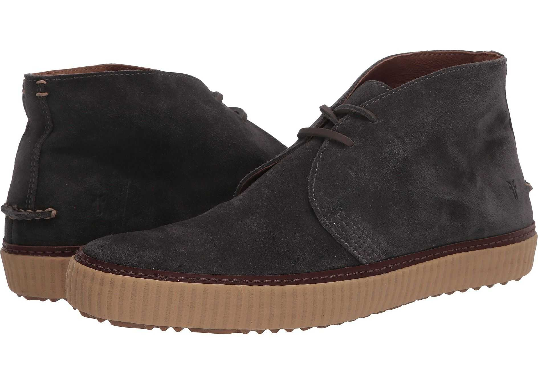 Frye Emory Chukka Grey Washed Waxed Suede