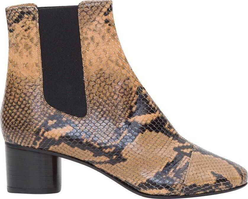 Isabel Marant Leather Ankle Boots BROWN