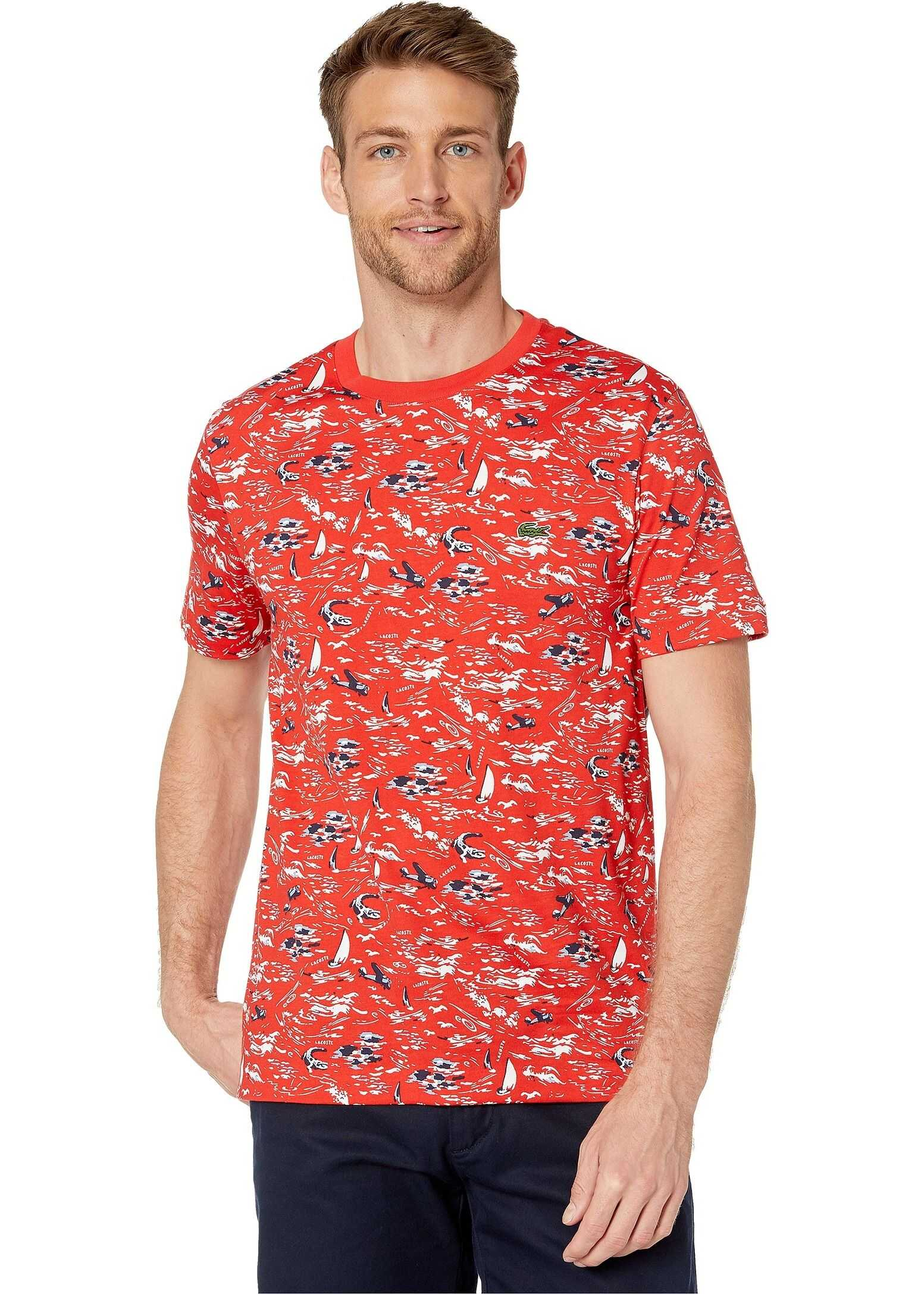 Short Sleeve All Over Printed Jersey T-Shirt