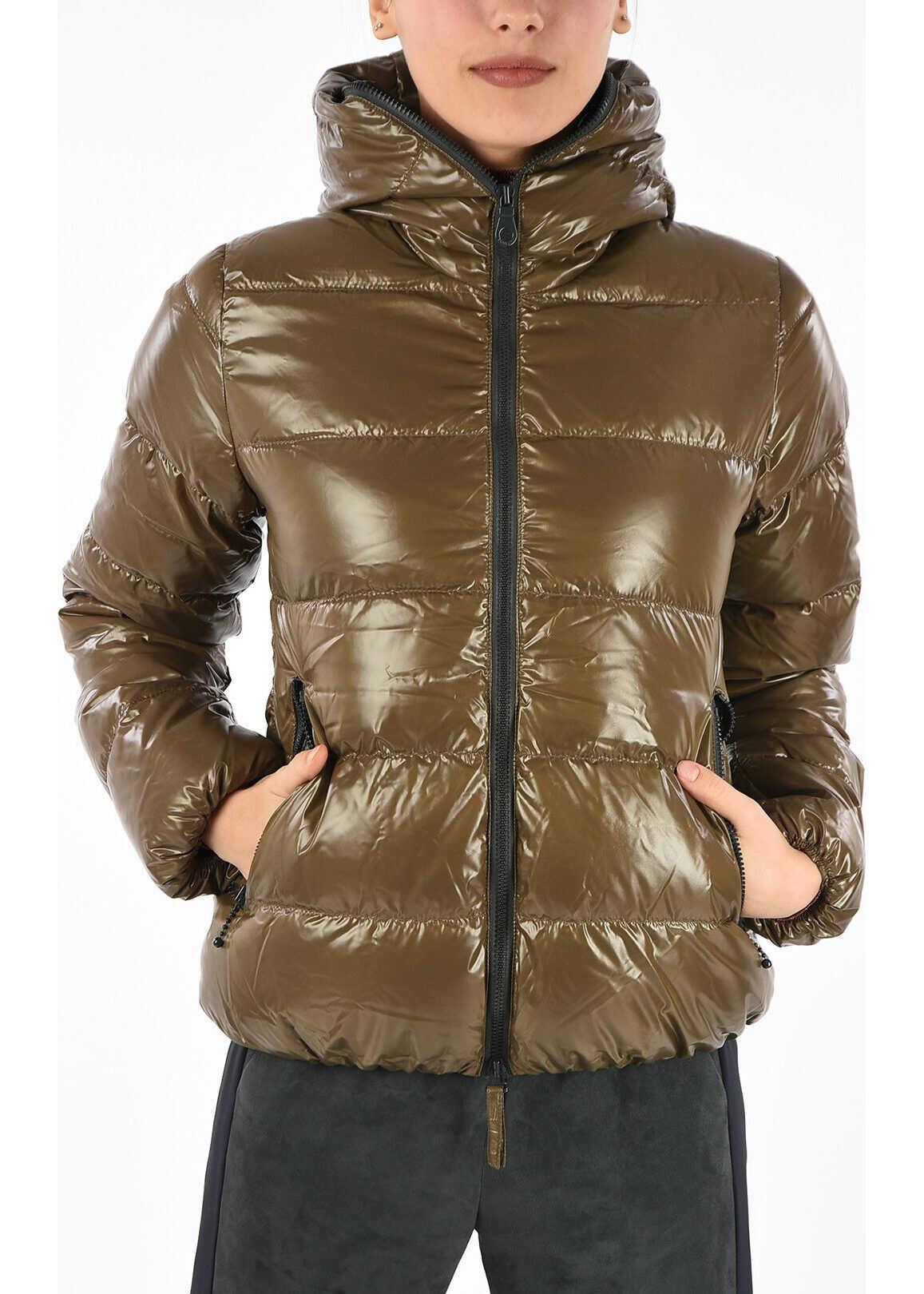 Duvetica Hooded THIA Down Jacket BROWN