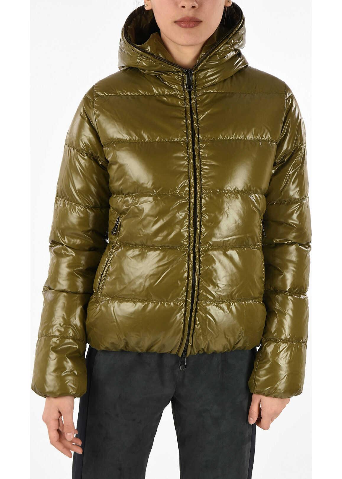 Duvetica Hooded THIACINQUE Down Jacket GREEN