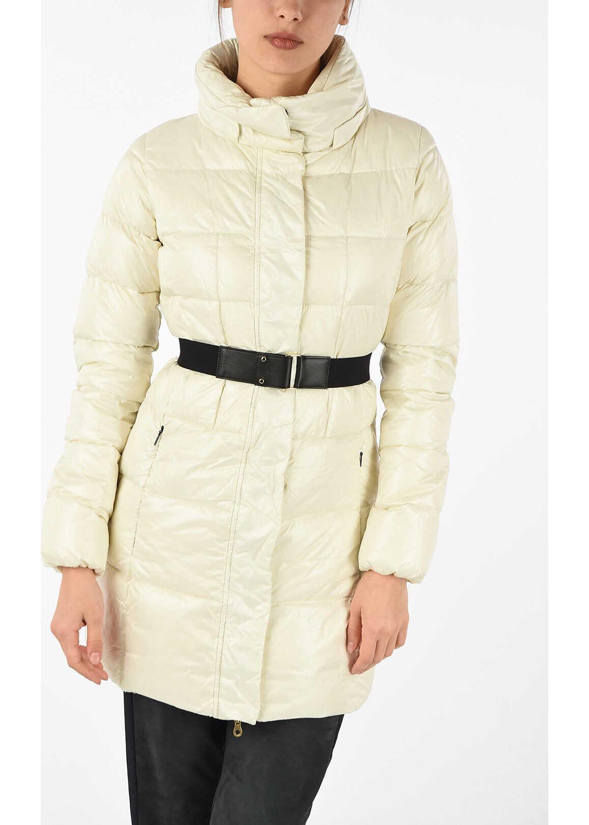 Duvetica Nylon MEGAN Down Jacket WHITE