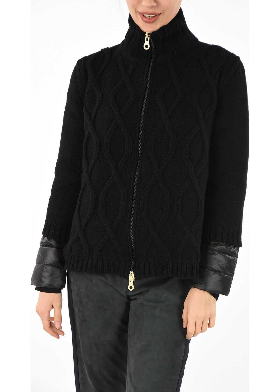 Duvetica Virgin Wool Knit NERYS down Jacket BLACK