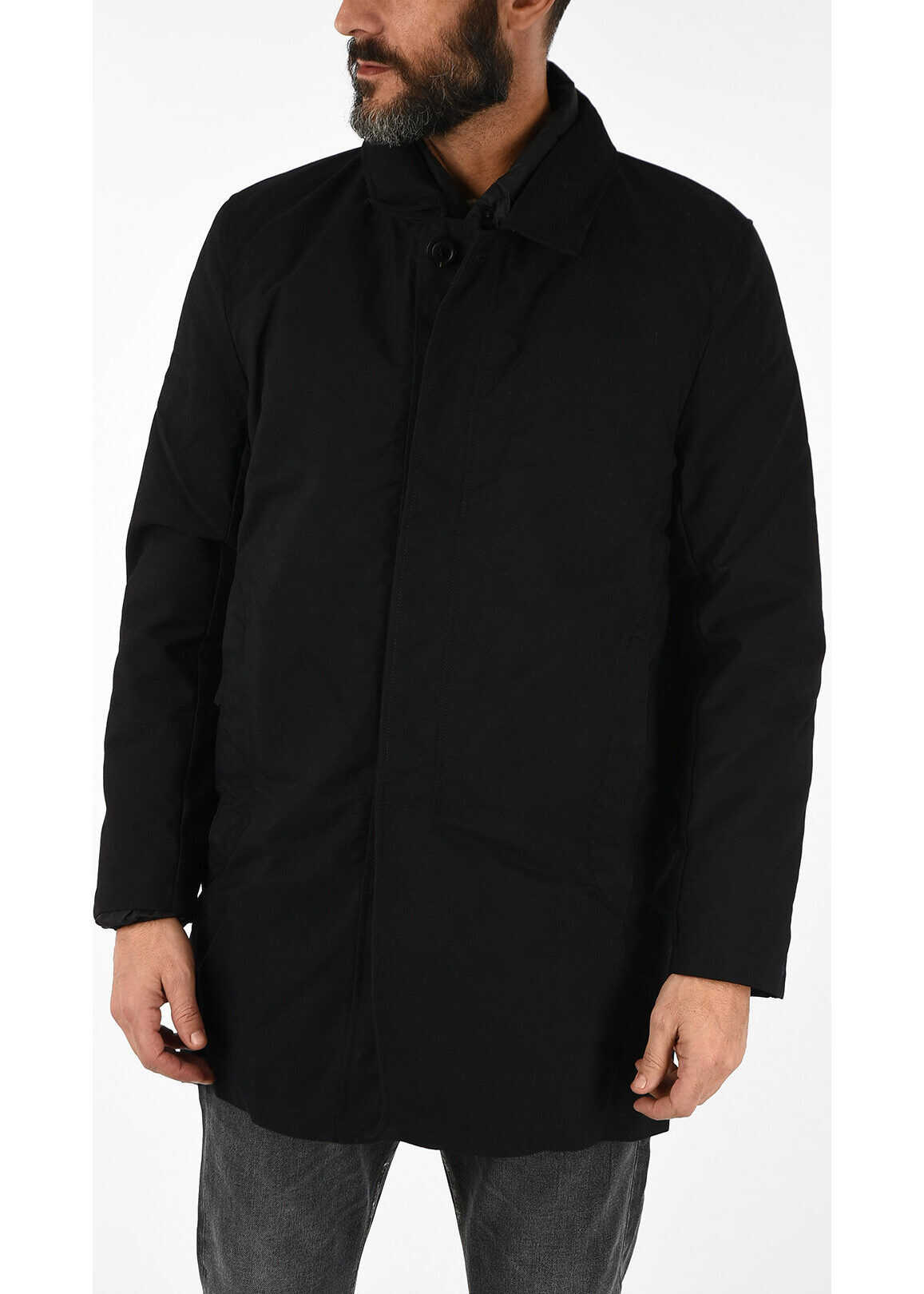 Duvetica Detachable Down Jacket KEENE Coat BLACK