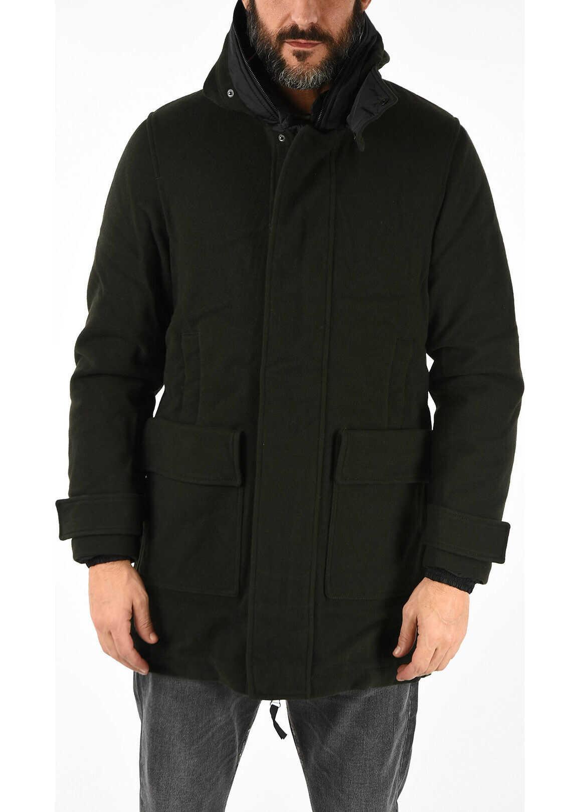 Duvetica Detachable Down Jacket RAMSAY Coat Loro Piana&Co. GREEN