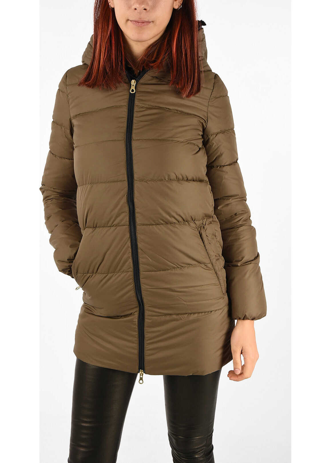 Duvetica Down Jacket CARYS with Real Fur BROWN