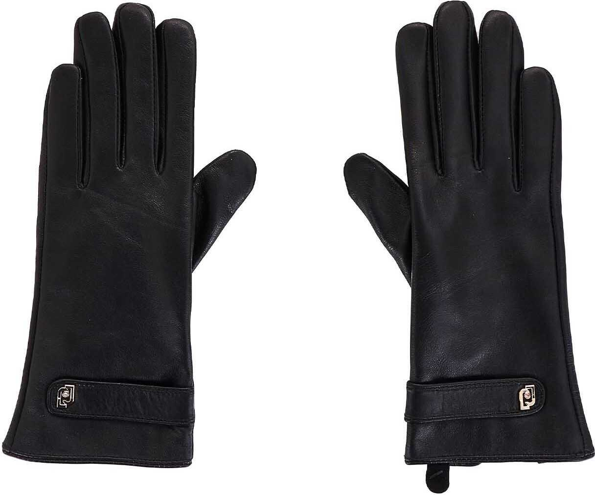 Liu Jo Shearling gloves Black