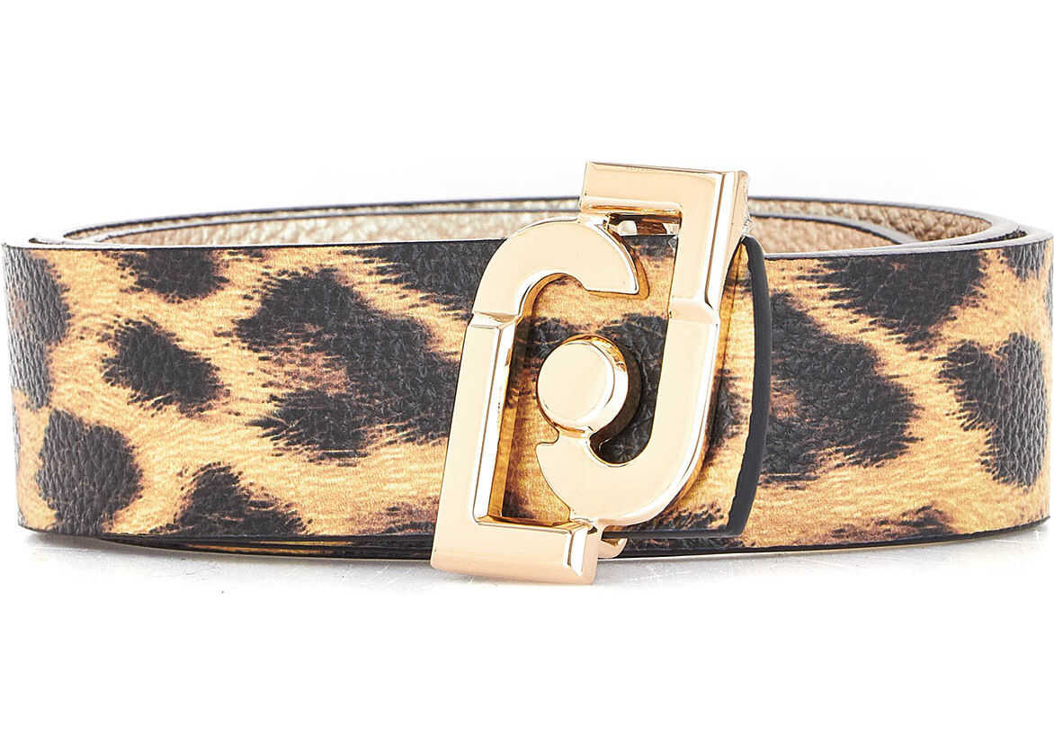 Belt with animal print