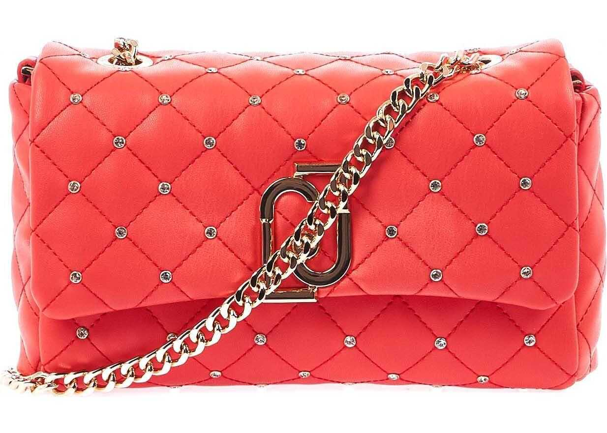 Liu Jo Small quilted crossbody bag Orange