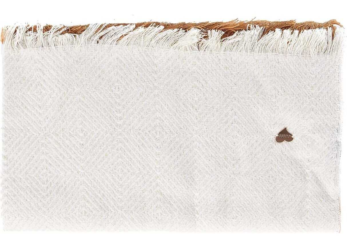 GUESS Scarf with Lurex details White