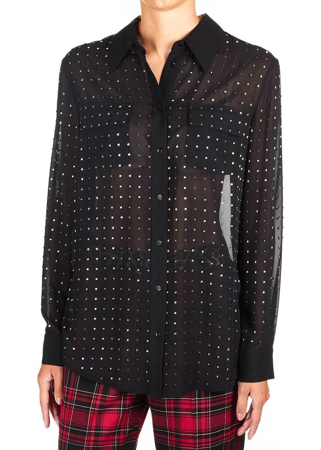Loose blouse with strass