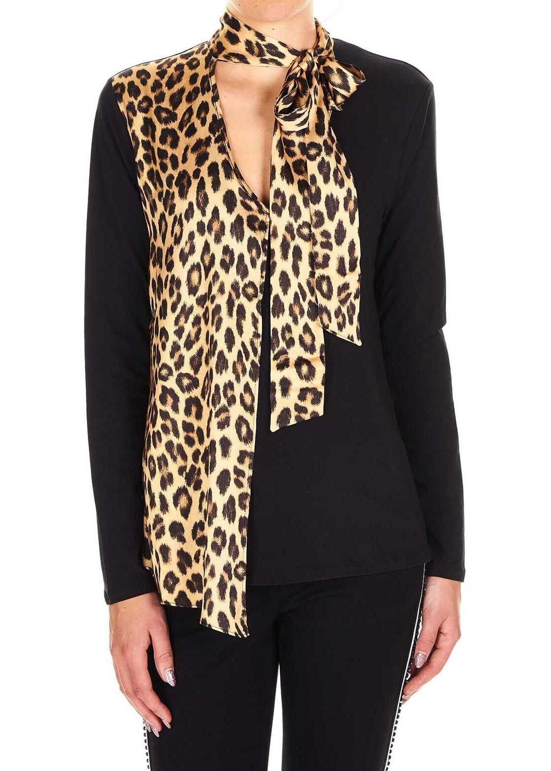 Longsleeve with details in animal print
