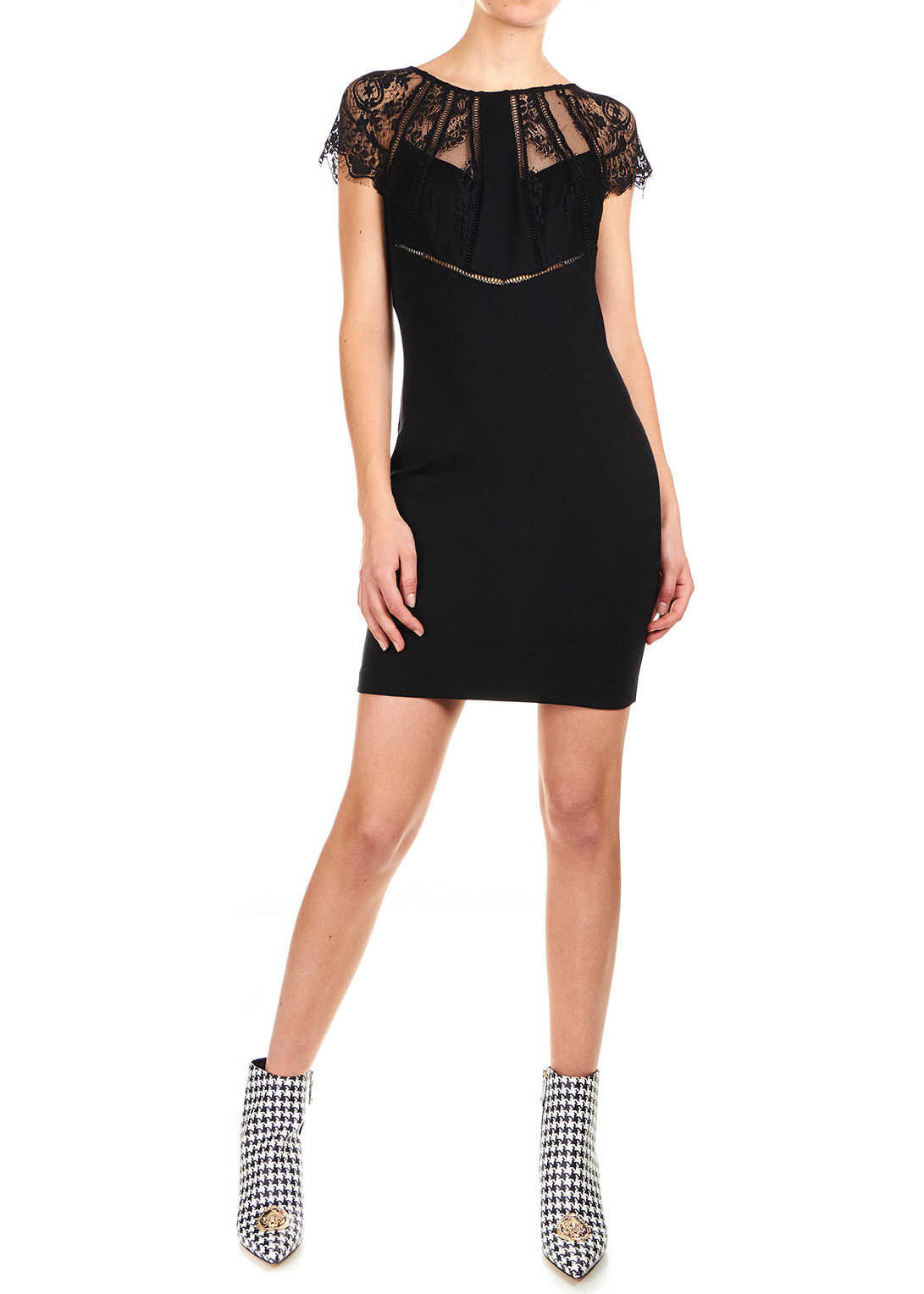 GUESS Mini dress with lace details Black