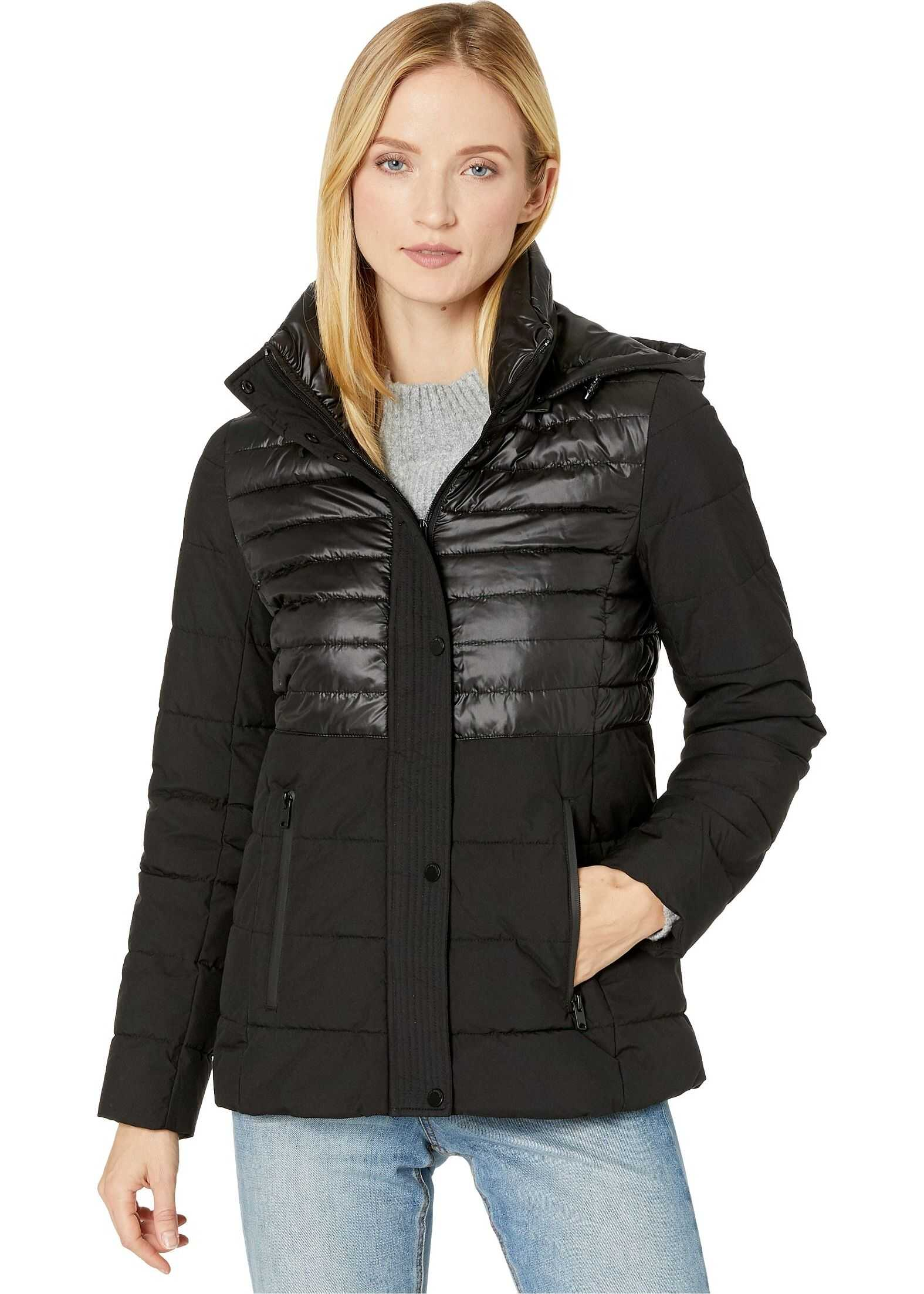 Marc New York by Andrew Marc Mix Media Puffer Black