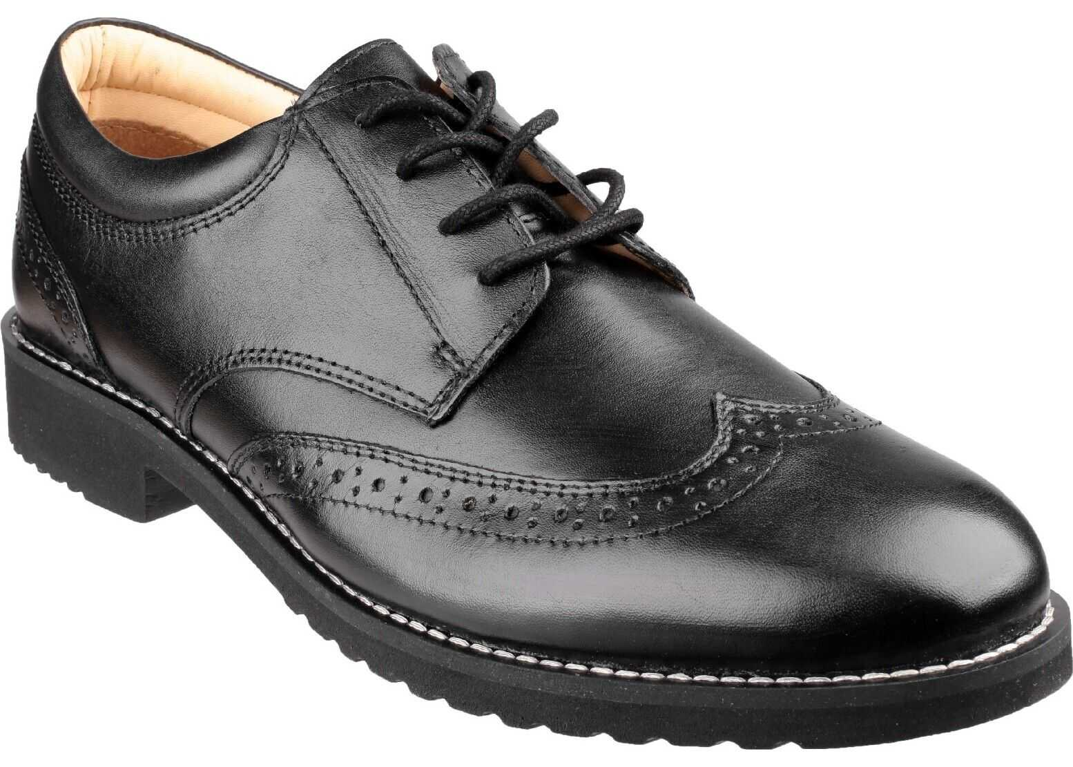 Cotswold Hardwicke Featherlight Lace up Brogue Shoe* BLACK