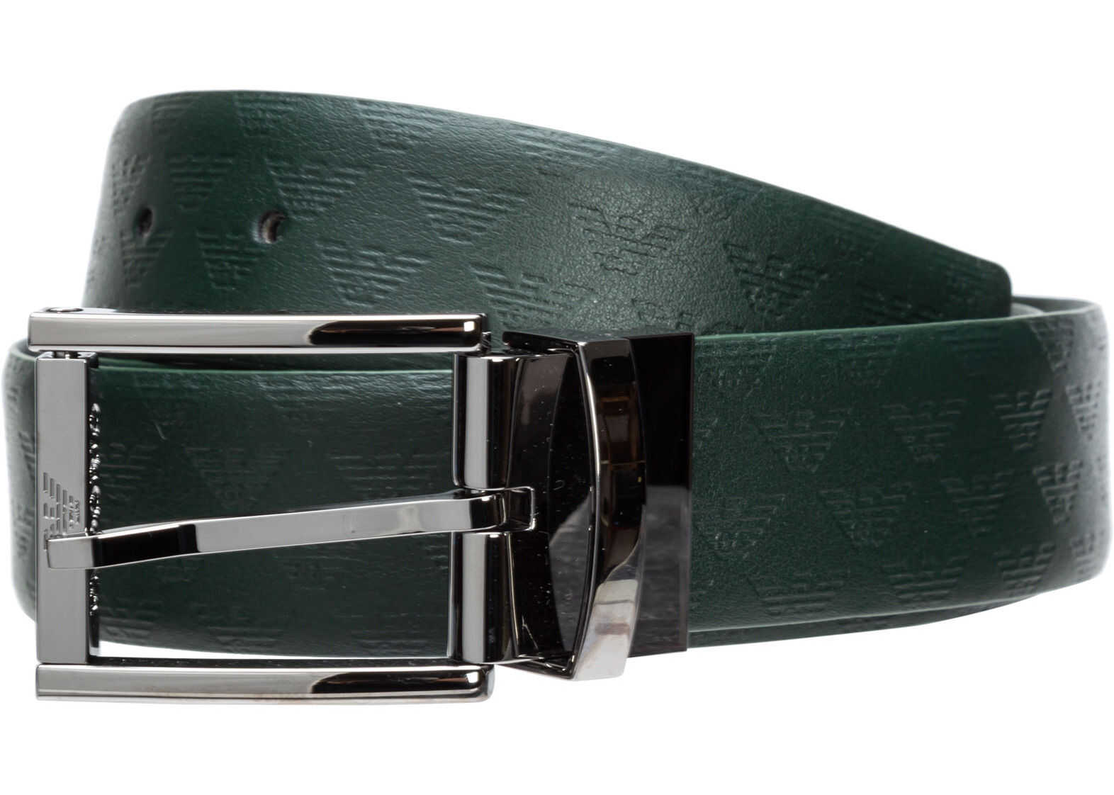 Emporio Armani Leather Belt Green