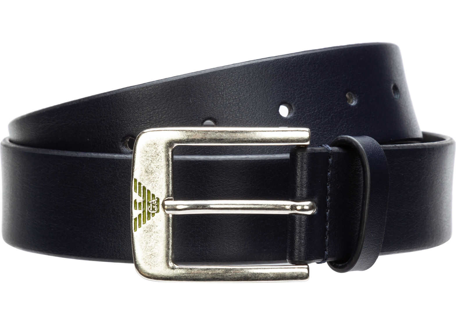 Emporio Armani Leather Belt Blue