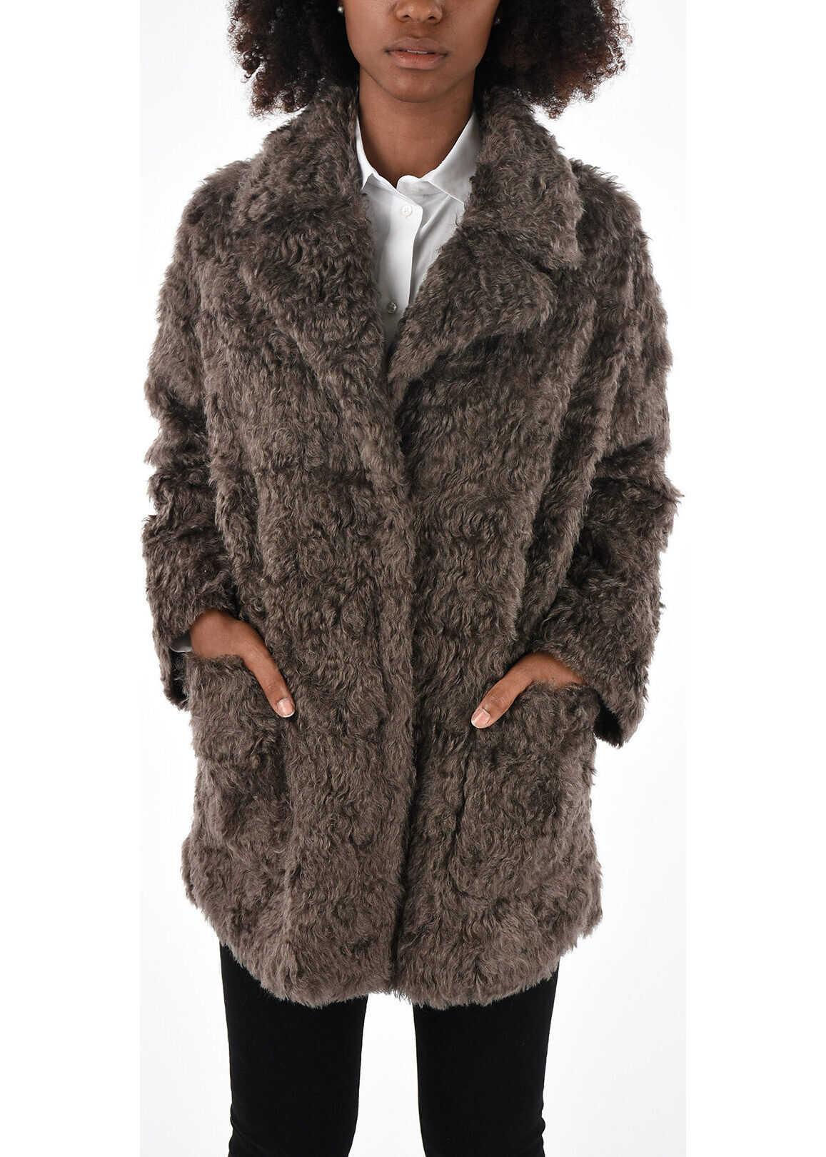 Brunello Cucinelli Cotton and Mohair Coat GRAY