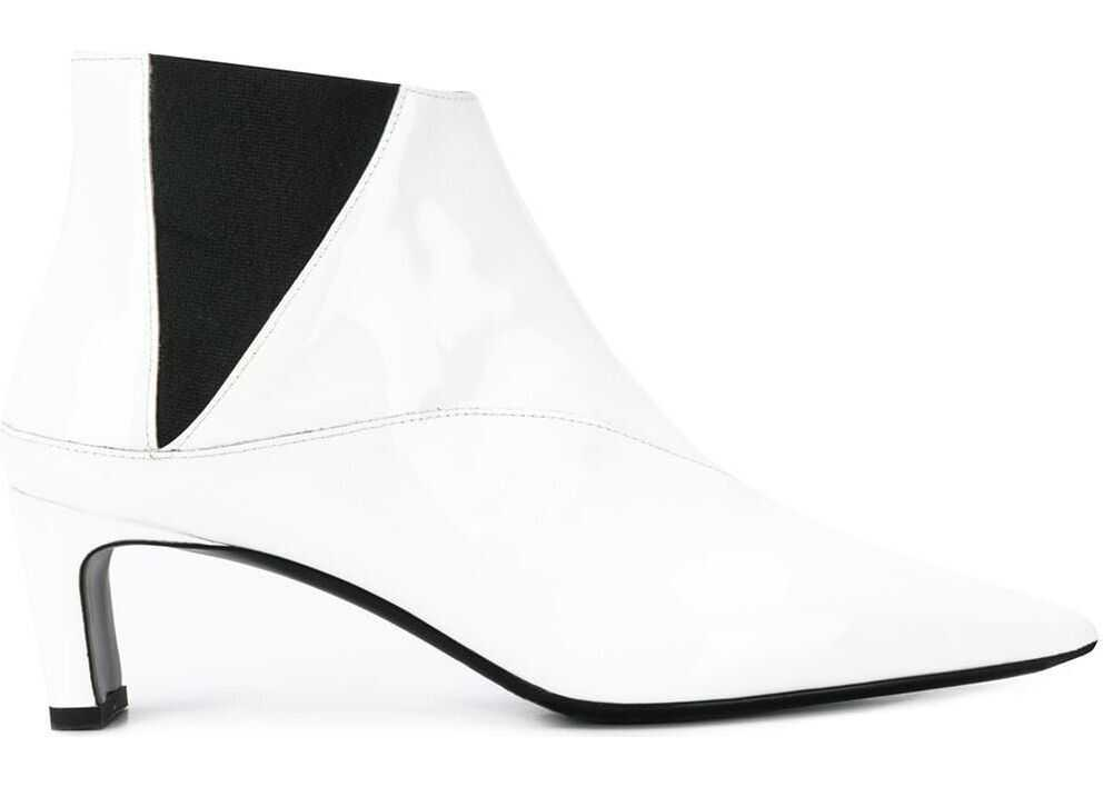 MCQ Alexander McQueen Leather Ankle Boots WHITE