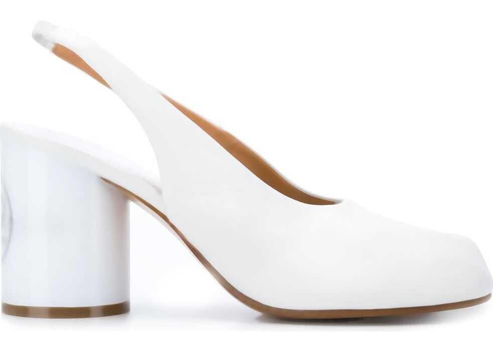 Maison Margiela Leather Heels WHITE