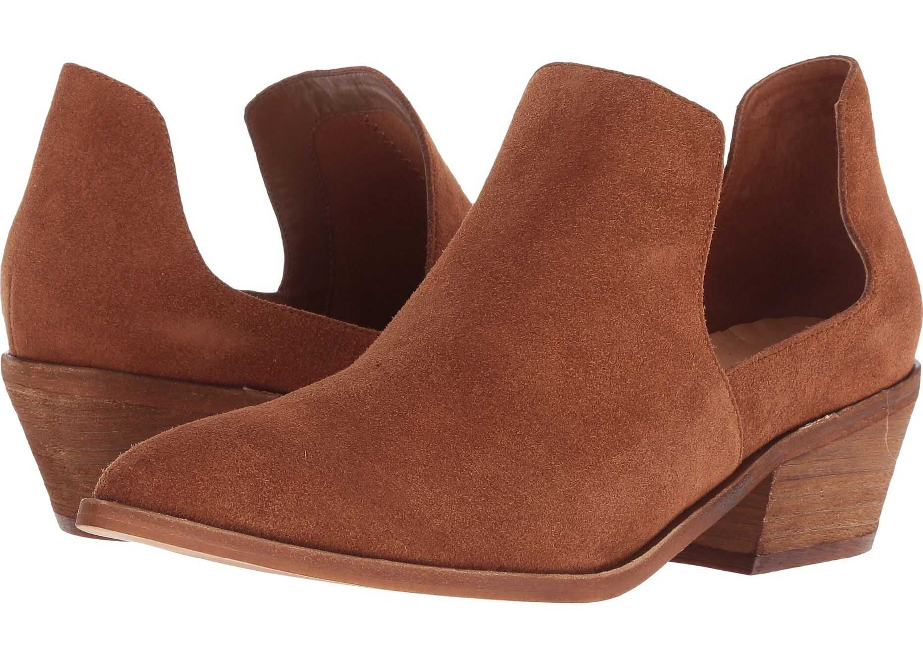 Chinese Laundry Focus Bootie Rust Split Suede