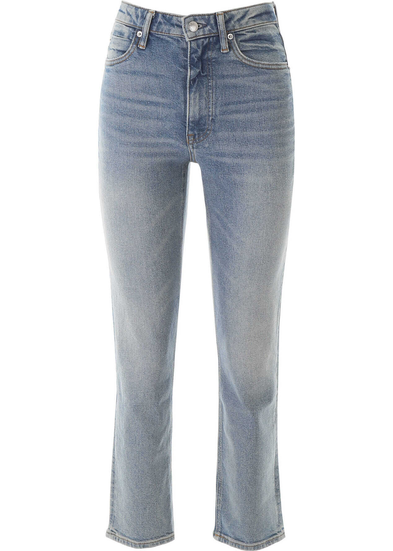 Alexander Wang Half Zip Jeans LIGHT INDIGO BLEACH