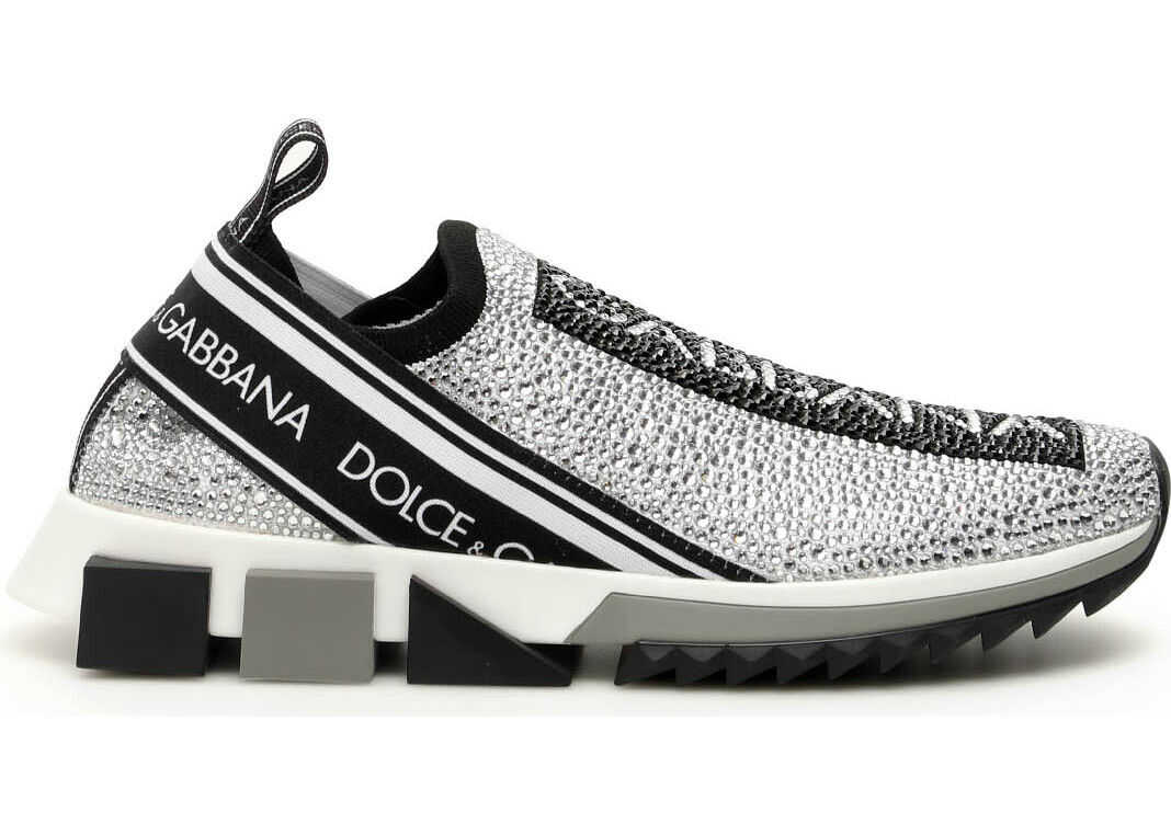 Dolce & Gabbana Running Knit Sneakers BIANCO MULTICOLOR